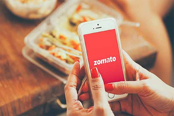Zomato contactless delivery