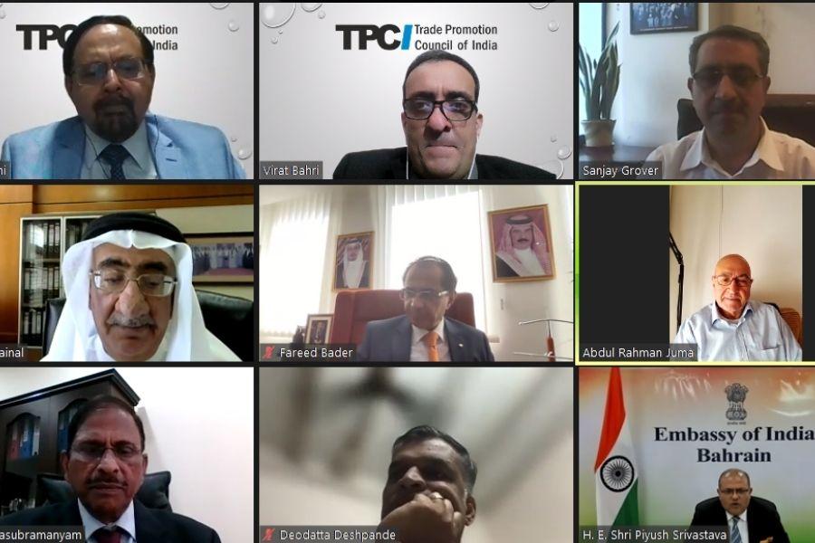 India-Bahrain Webinar Screenshot