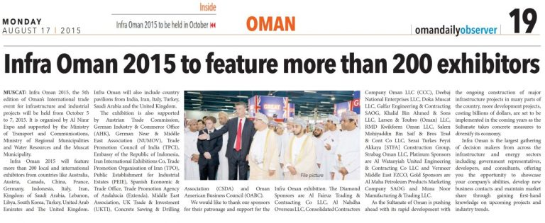 Oman Daily Observer, 17 August 2015