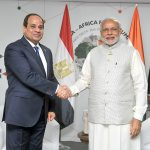 The Prime Minister, Shri Narendra Modi meeting the President of Egypt, Mr. Abdel Fattah Al-Sisi, on the sidelines of the 3rd India Africa Forum Summit 2015, in New Delhi on October 29, 2015.