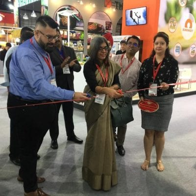 Ambassador of India in Thailand inaugurates the India pavilion at THAIFEX